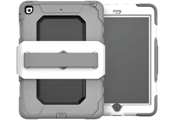 Griffin Survivor All-Terrain mit Handschlaufe, Apple iPad 9,7(2017&2018), weiß/grau, GFB-002-WHT