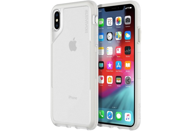 Griffin Survivor Endurance Case, Apple iPhone Xs Max, transparent/grau