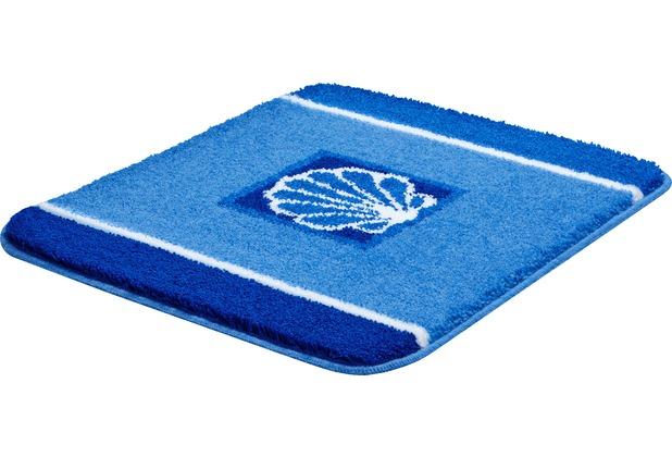 GRUND AQUATICA Badteppich Blau 50 x 60 cm WC-Vorleger ohne Ausschnitt