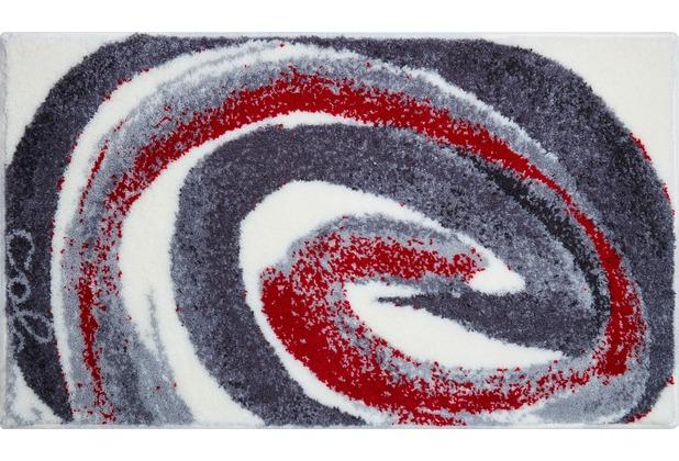 Colani 42 Badteppich grau-rot 60 cm x 100 cm