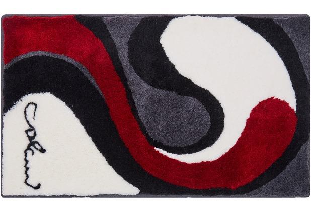 Colani 7B Badteppich grau-weiss 60 cm x 100 cm