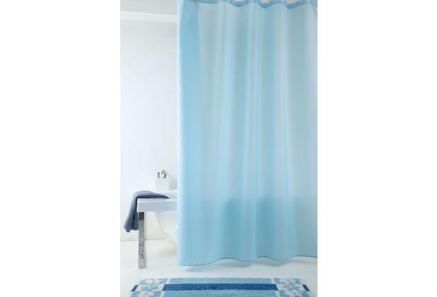 GRUND Duschvorhang Impressa blau 120x200 cm