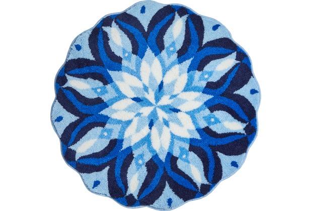 GRUND EUPHORIA Badteppich Blau ø 80 cm