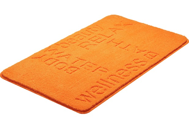 GRUND FEELING Badteppich Orange 50 x 60 cm WC-Vorleger ohne Ausschnitt