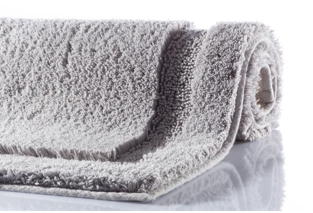 GRUND NATUR Badteppich Grau 60 x 60 cm WC-Vorleger ohne Ausschnitt