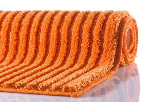 GRUND RIFFLE Badteppich orange 50 x 60 cm