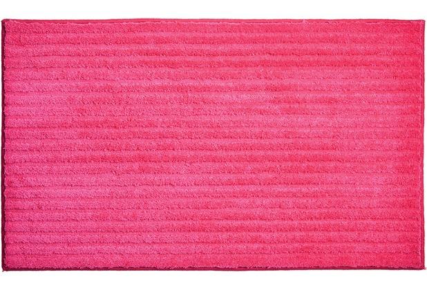 GRUND RIFFLE Badteppich pink 60 x 100 cm