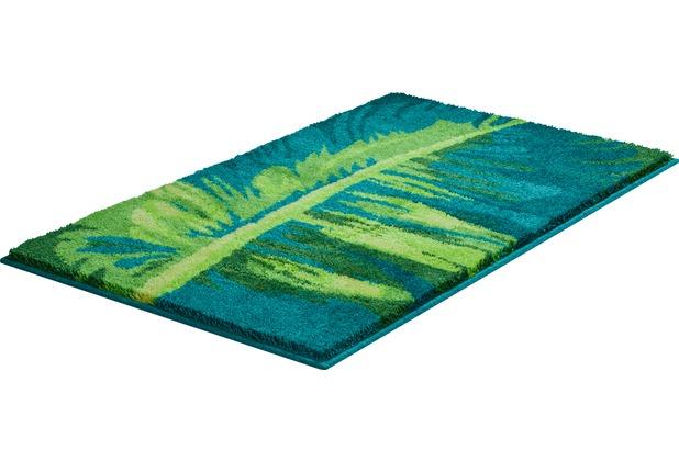 GRUND TROPICAL Badteppich Grün 50 x 60 cm WC-Vorleger ohne Ausschnitt