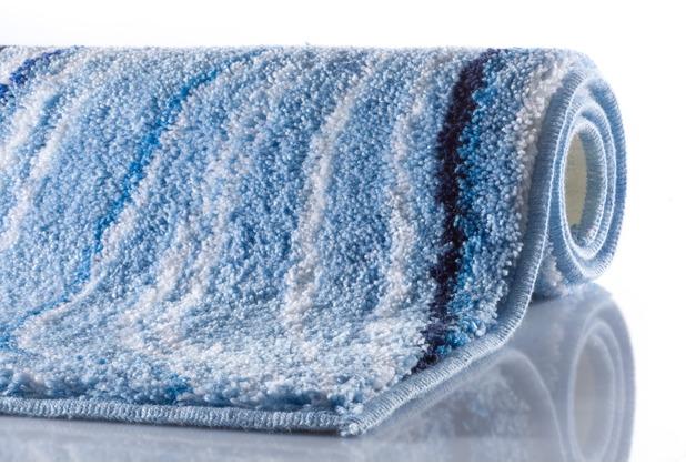GRUND VELA Badteppich Blau 50 x 60 cm WC-Vorleger ohne Ausschnitt