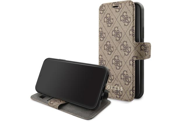 Guess Charms - Apple iPhone 11 Pro Max - Braun - Ledertasche Handyhülle Schutzhülle Handyhülle