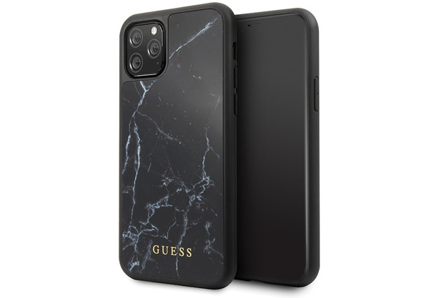 Guess Marble Collection - Apple iPhone 11 Pro Max - Schwarz - Hard Case - Cover - Schutzhülle
