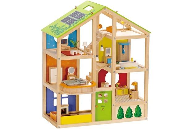 Hape Happy Family Vier-Jahreszeiten Haus (möbliert)
