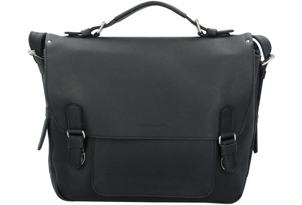 Harold\'s Ivy Kurier Aktentasche Leder 40 cm Laptopfach schwarz