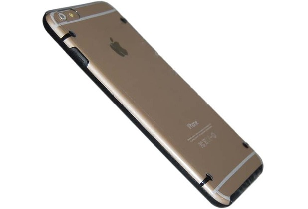 Hart Cover/Case/Schutzhülle - Apple iPhone 6 Plus - Transparent Schwarz
