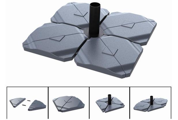 Helcosol Triangle To Fill Up, Beschwerungsplatte für Keuzschirmständer 3-Eck füllbar 2 Stück anthrazit