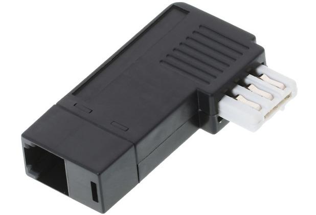 Helos Adapter TAE N Stecker/6P2C Buchse, schmal