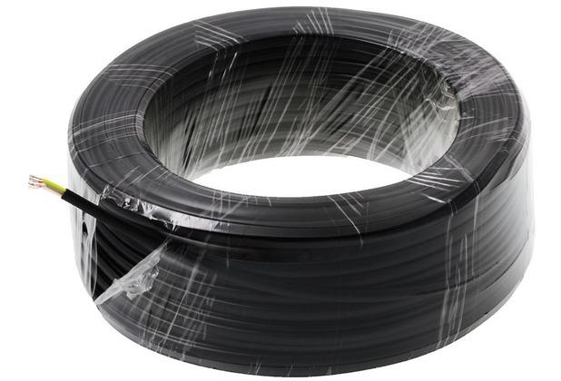 Helos Anschlusskabel 4-adrig, schwarz, 50 m