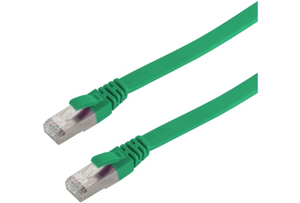 Helos Patchkabel S/FTP (PIMF) CAT 6A slim, grün 10,0m