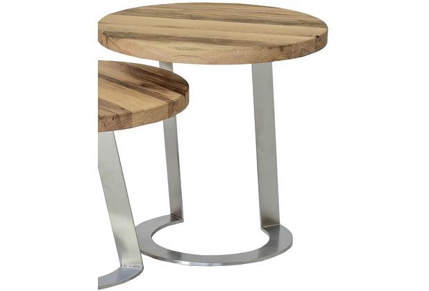 Henke Möbel Beistelltisch 50 x 50 cm - Höhe 50 cm Eiche-Altholz