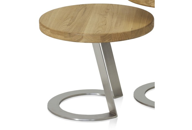 Henke Möbel Beistelltisch 50 x 50 cm - Höhe 40 cm Eiche