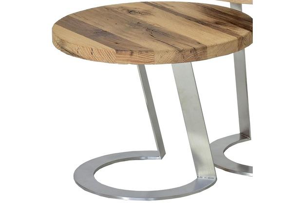 Henke Möbel Beistelltisch 50 x 50 cm - Höhe 40 cm Eiche-Altholz