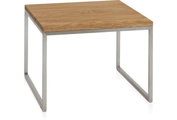 Henke Möbel Beistelltisch Ast-Eiche 60 x 60 cm