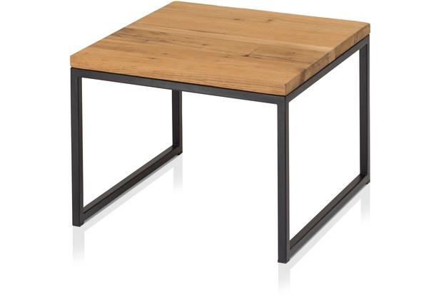 Henke Möbel Beistelltisch Kern-Altholz dunkel 50 x 50 cm