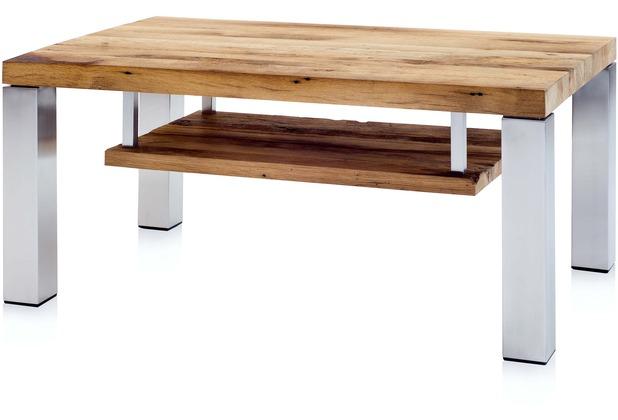 Henke Möbel Couchtisch mit Ablageboden 110 x 70 cm Eiche-Altholz