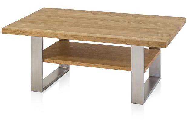 Henke Möbel Couchtisch mit Ablageboden 110 x 70 cm 2 Beine
