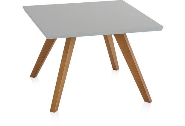 Henke Möbel Couchtisch Spitzfüße grau 65 x 65 cm
