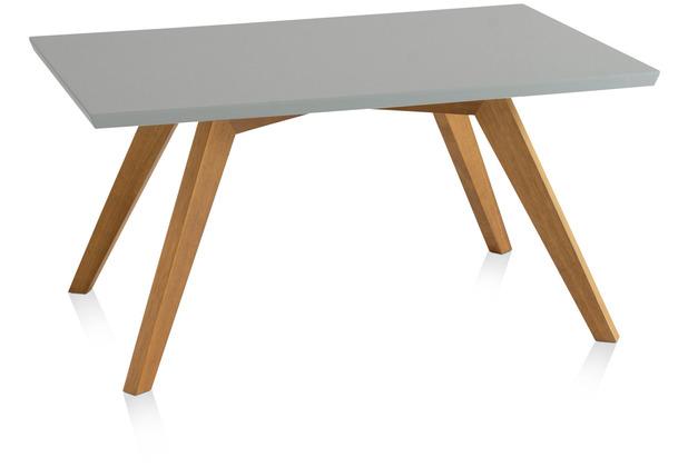Henke Möbel Couchtisch Spitzfüße quadratisch grau 90 x 60 cm