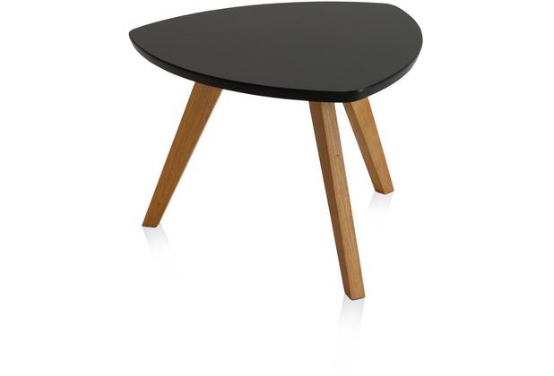 Henke Möbel Couchtisch Spitzfüße schwarz 60 x 60 cm