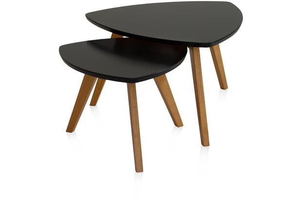 Henke Möbel Couchtisch Spitzfüße schwarz 90 x 80 cm