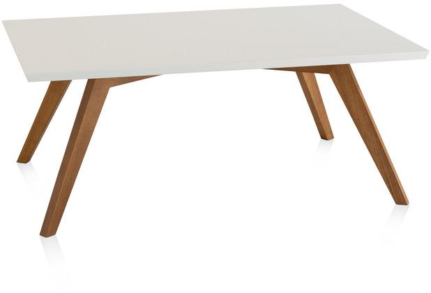 Henke Möbel Couchtisch Spitzfüße quadratisch weiß 110 x 70 cm