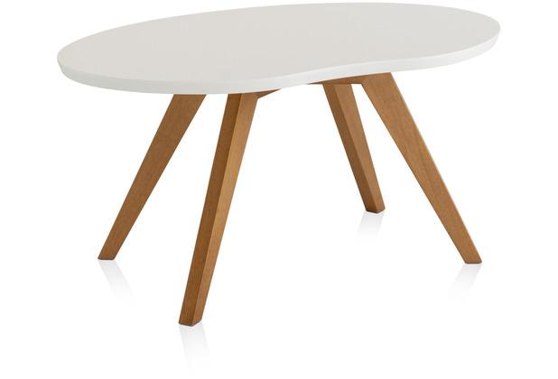 Henke Möbel Couchtisch Spitzfüße weiß 90 x 56 cm