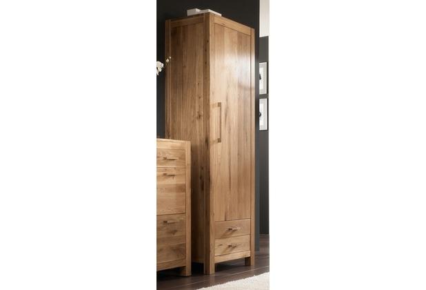Henke Möbel Dielenschrank 63 x 200 x 45 cm, massive Wildeiche