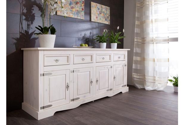 Henke Möbel Sideboard 4-türig weiß 200 x 88 x 51 cm