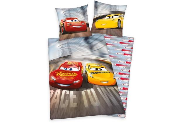 Herding Disney\'s Cars 3 Flanell- Bettwäsche , 135x200 cm