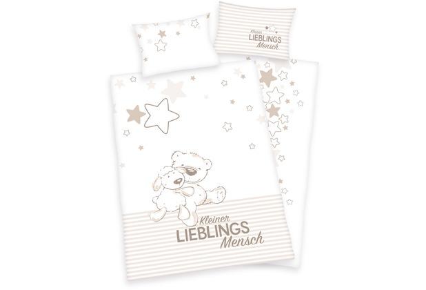 Herding Lieblingsmensch Renforcé Bettwäsche, 100x135 cm weiß