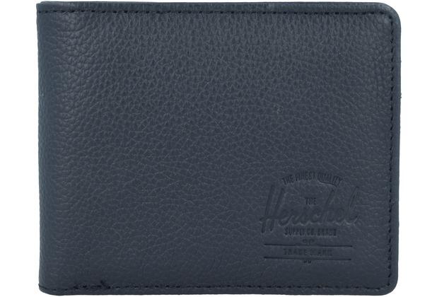 Herschel Hank Geldbörse RFID Leder 11 cm black pebbled leather