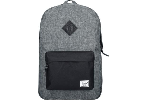 Herschel Heritage Backpack Rucksack 47 cm Laptopfach raven crosshatch black black leather