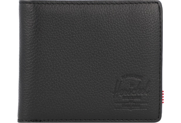 Herschel Roy + Coin XL Geldbörse RFID Leder 11 cm black pebbled leather
