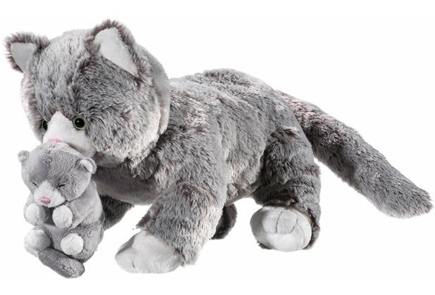 Heunec SOFTISSIMO Katzen Mami mit Baby 32 cm