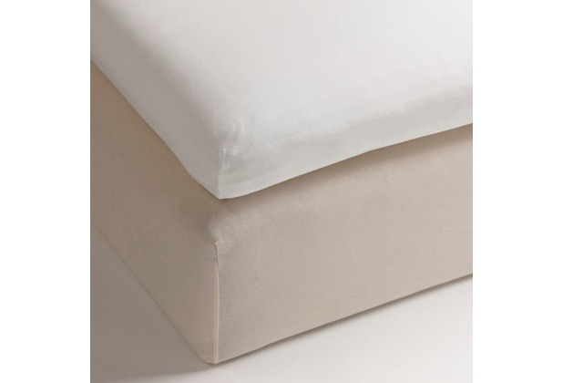 Heckett & Lane Perkal Spannlaken Topper White 100 x 200