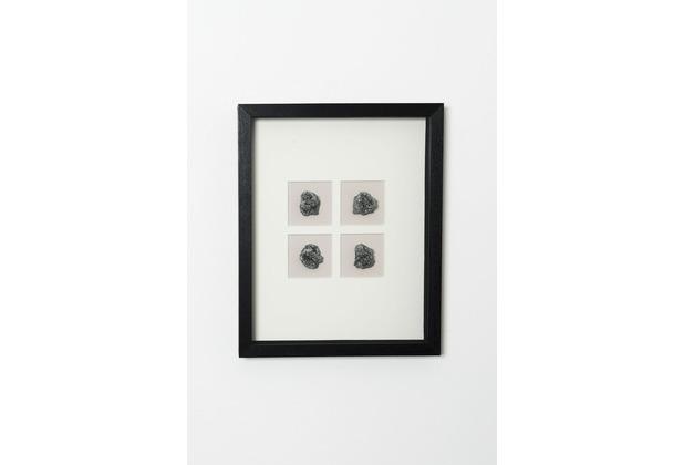 Holländer Bild ECOLOGICA schwarz, Steine silber