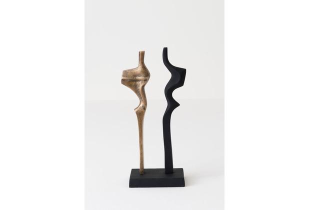 Holländer Dekoobjekt FAGIANO PICCOLO Aluminium mattschwarz-antikgold