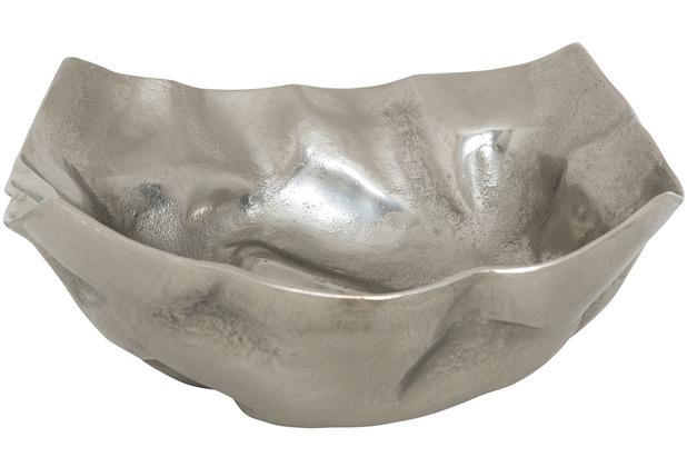 Holländer Dekoschale RUSTICA GROSS Aluminium silber