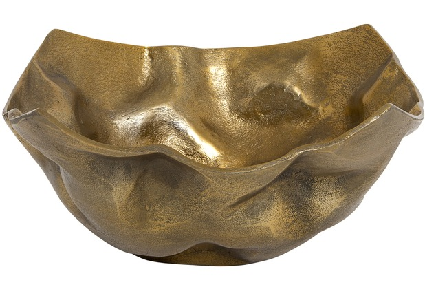 Holländer Dekoschale RUSTICA MITTEL Aluminium gold