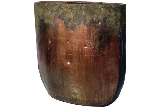 Holländer Dekovase FORGIATO KLEIN OVAL Keramik bronze
