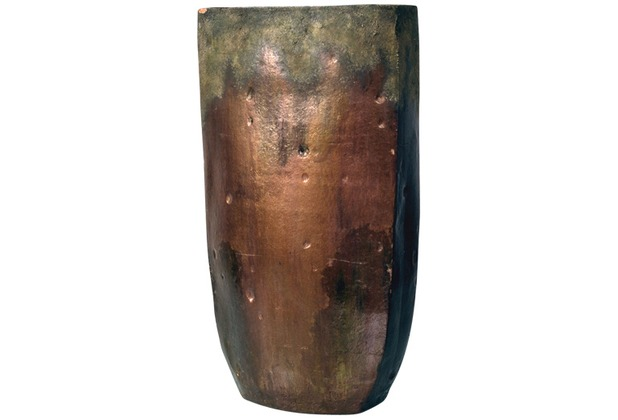 Holländer Dekovase FORGIATO MITTEL OVAL Keramik bronze